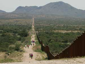 MEXUS border wall scenic walking path byway