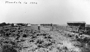 Pinedale in 1904. Photo courtesy Sublette County Historical Society.