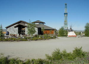 Museum of the Mountain Man in Pinedale boasts a new drill rig as part of their educational displays on the grounds.